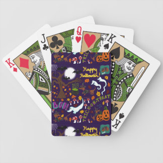 Diva Dachshund's Halloween Bicycle Playing Cards