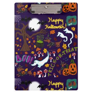 Diva Dachshund's Halloween Clipboard