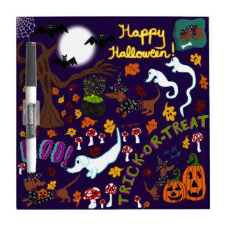 Diva Dachshund's Halloween Dry Erase Board