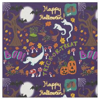 Diva Dachshund's Halloween Fabric