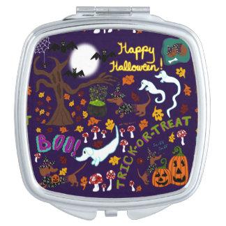 Diva Dachshund's Halloween Makeup Mirrors