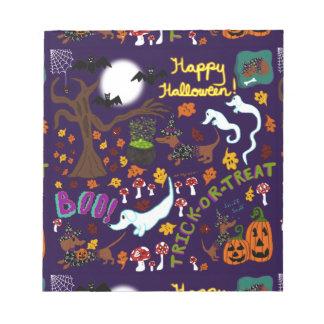 Diva Dachshund's Halloween Notepad