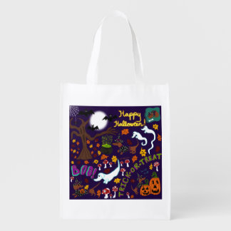 Diva Dachshund's Halloween Reusable Grocery Bag