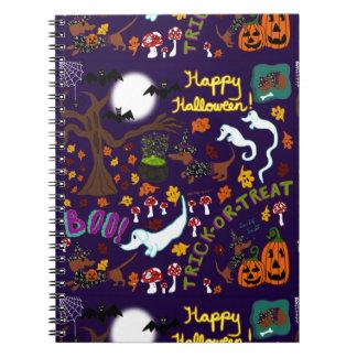 Diva Dachshund's Halloween Spiral Notebook