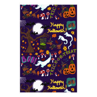 Diva Dachshund's Halloween Stationery