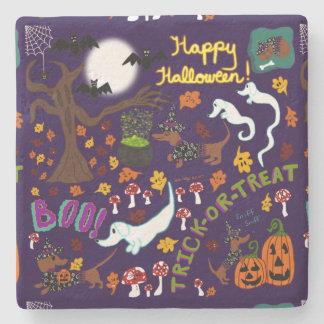 Diva Dachshund's Halloween Stone Coaster