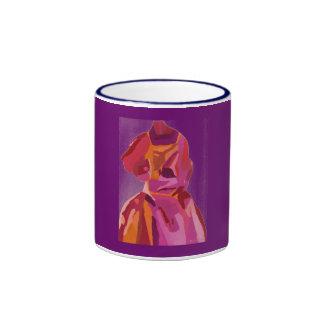 Diva Fashionista Autumn Reds Ringer Coffee Mug