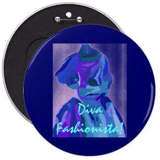 Diva Fashionista In Blue I Pins