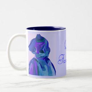 Diva Fashionista In Blue I Two-Tone Coffee Mug
