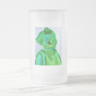 Diva Fashionista In Summer 16 Oz Frosted Glass Beer Mug