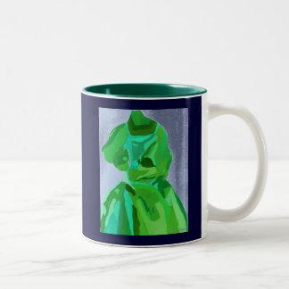 Diva Fashionista In Summer Two-Tone Coffee Mug