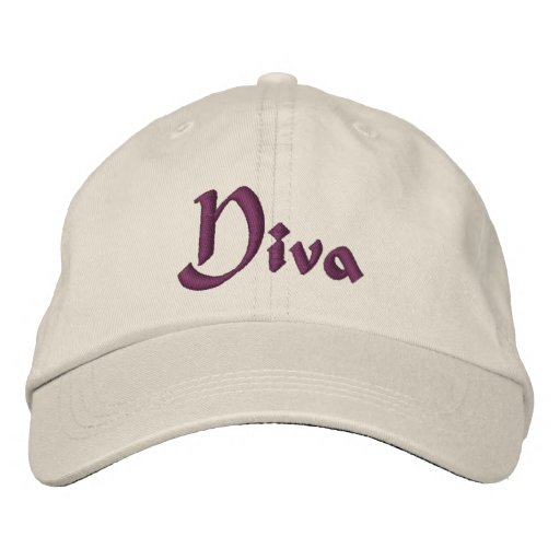 Diva Funny Embroidered Hat