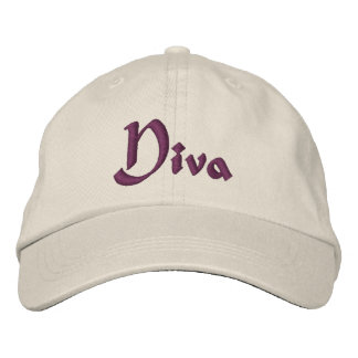 Diva Funny Embroidered Hats