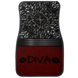 Diva Lips Bling Red Floor Mats