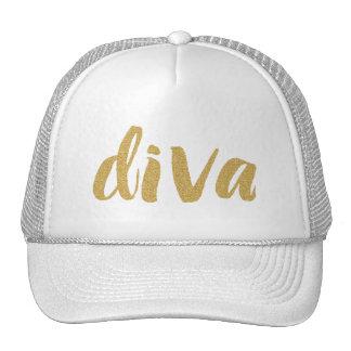 Diva Modern Glitter Text Design Cap