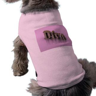 Diva Pink 3D Sleeveless Dog Shirt