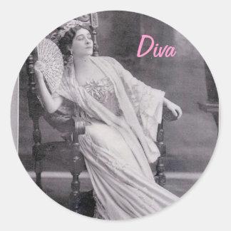 Diva Round Sticker