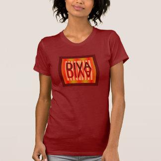 DIVA  Shirt 4 Women-Red/Orange/Yellow/Maroon