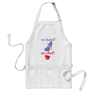 Diva Slogan No Shoes No Chef Standard Apron