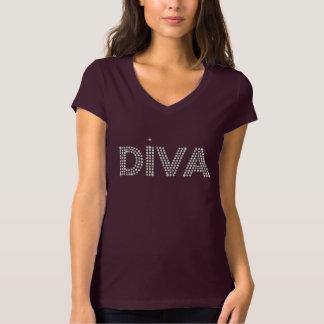 Diva Sparkling Diamons Tee Shirts
