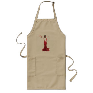 Diva toast illustration long apron