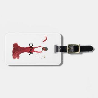Diva toast illustration luggage tag