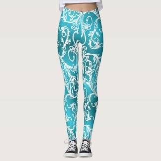 Diva Turquoise Filigree Dream Leggings