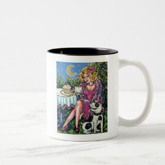 Diva with Mussolini Two-Tone Coffee Mug