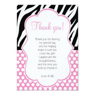 Diva Zebra Pink Thank You Card