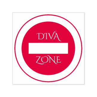 """Diva Zone"" Rubber Stamp"
