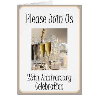 Diva's 25th Anniversary Party Invitation