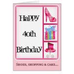 Diva's 40th Birthday Card for Women