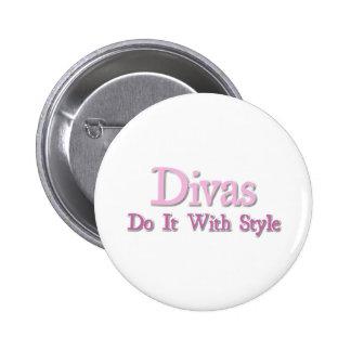 Divas Do It With Style 6 Cm Round Badge