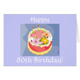 Diva's Happy 80th Birthday Card