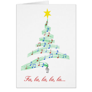 Diva's Happy Notes Christmas Card