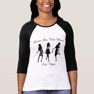 Divas On The Move - Women's Black & White T-shirt