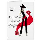 Diva's Red Hot 45th Birthday Greeting Card
