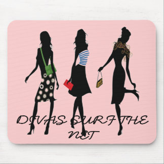 DIVAS SURF THE NET Mousepad