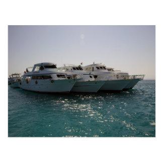 dive boats postcards