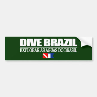 Dive Brazil Bumper Sticker