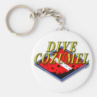 Dive Cozumel Keychain