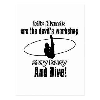 Dive designs postcard