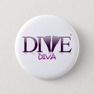 Dive Diva Fins 6 Cm Round Badge