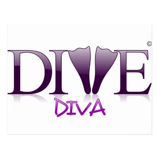 Dive Diva Fins Postcards