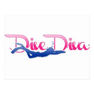 Dive Diva Kick Postcard