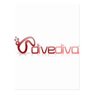 Dive Diva Mask Postcard