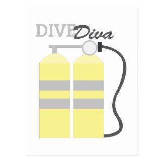 Dive Diva Postcard