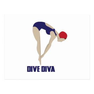 Dive Diva Postcards