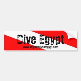 Dive Egypt Bumper Sticke,  Shipwrecksofegypt.com Bumper Sticker