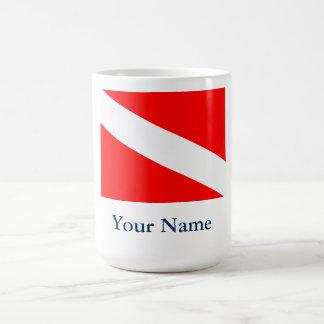 Dive Flag (Customizable) Coffee Mug